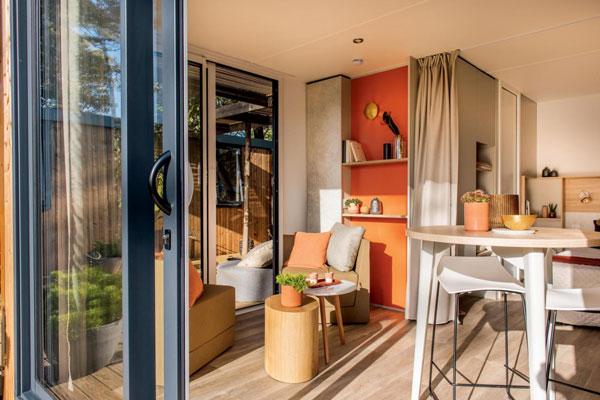 mobil-home luxe parc aquatique